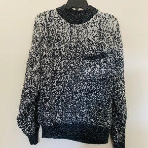 Vintage Ombré Grandpa mock Neck Sweater